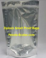 500 Bulk Smell Proof Bag Clear Front and Foil Back Ziplock 2 Kilogram