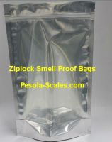 1000 Bulk Smell Proof Bag Clear Front and Foil Back Ziplock 1 Kilogram